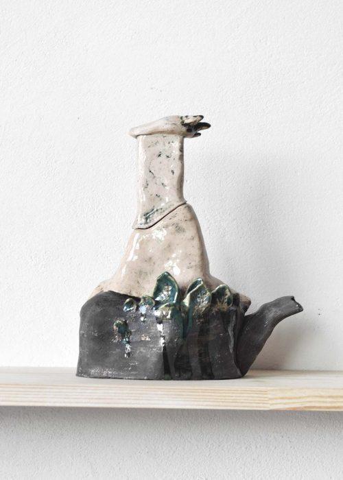 Декоративный чайник из керамики - Серия «Присутствие» (Ручная работа)