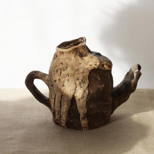 Вид спереди - Декоративный чайник (Ручная работа)