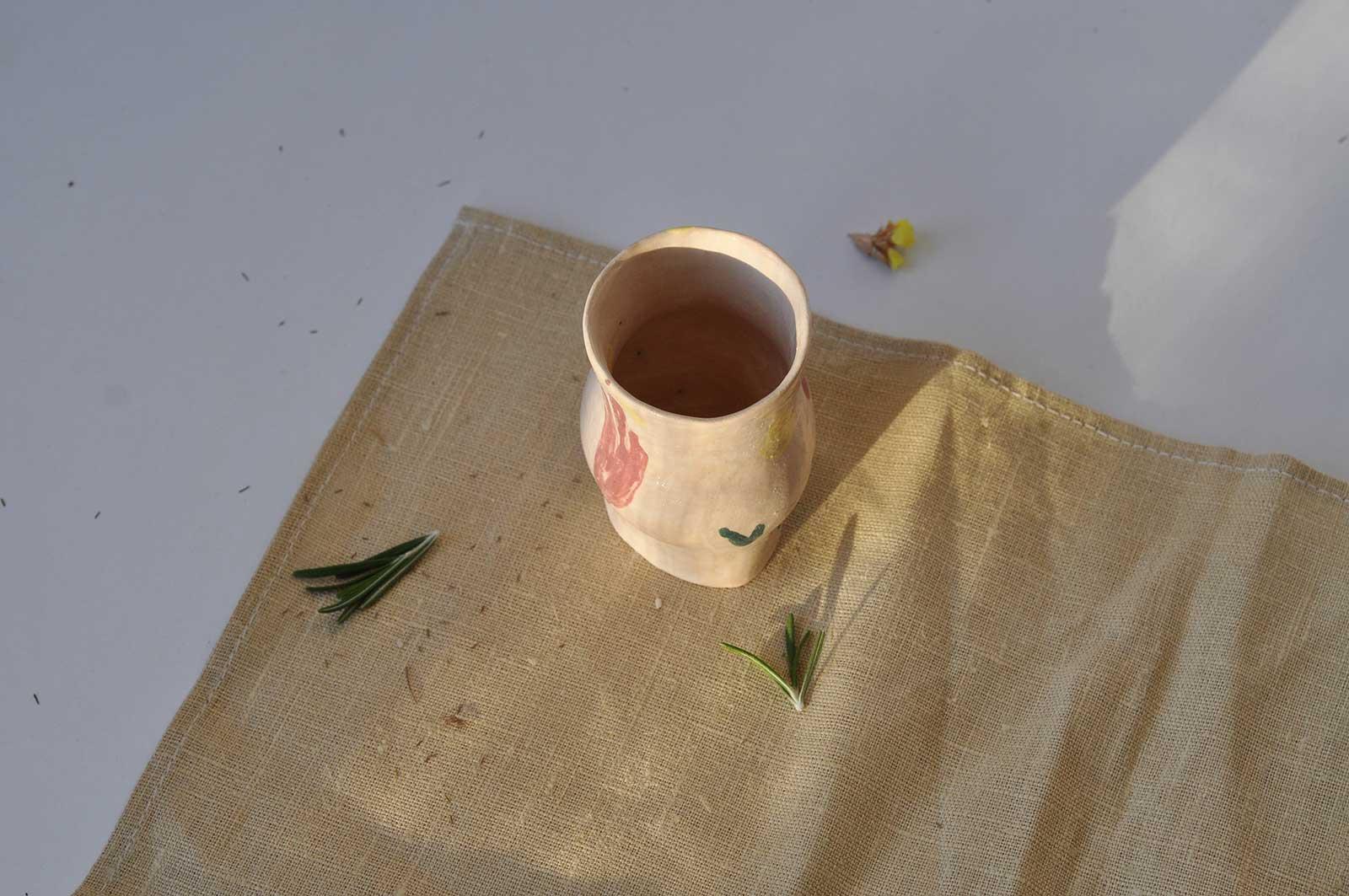Вид спереди - Стакан из керамики (Ручная работа)