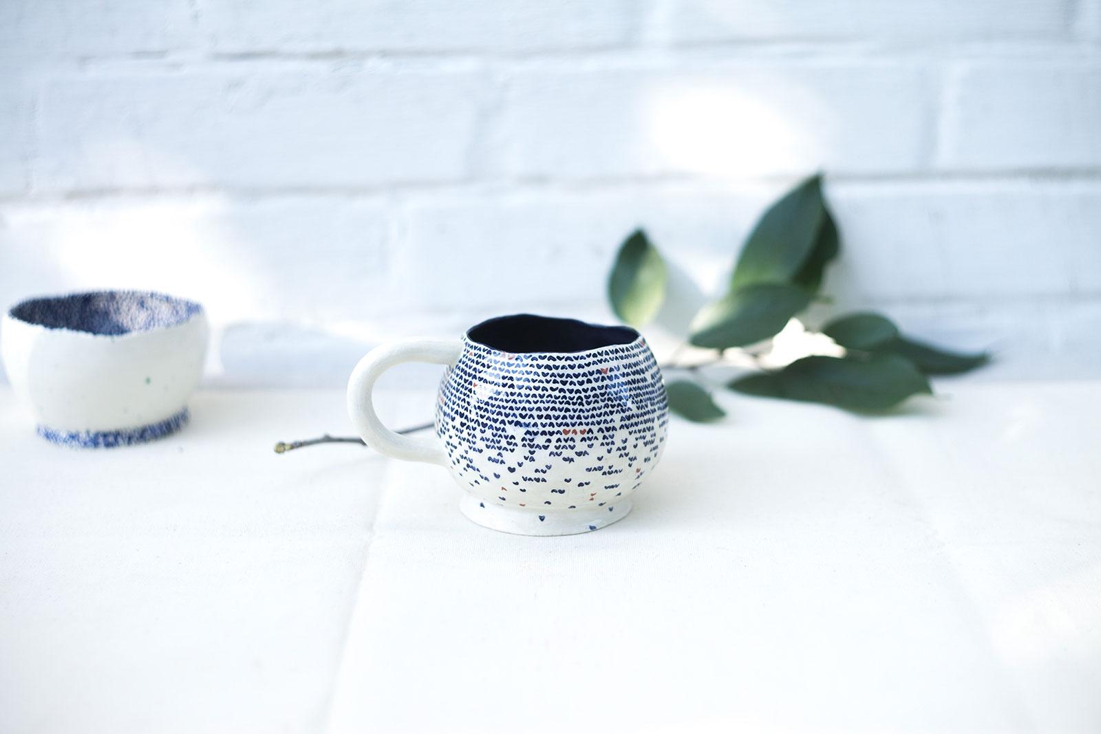 Большая декоративная чайная чашка (Ручная работа)