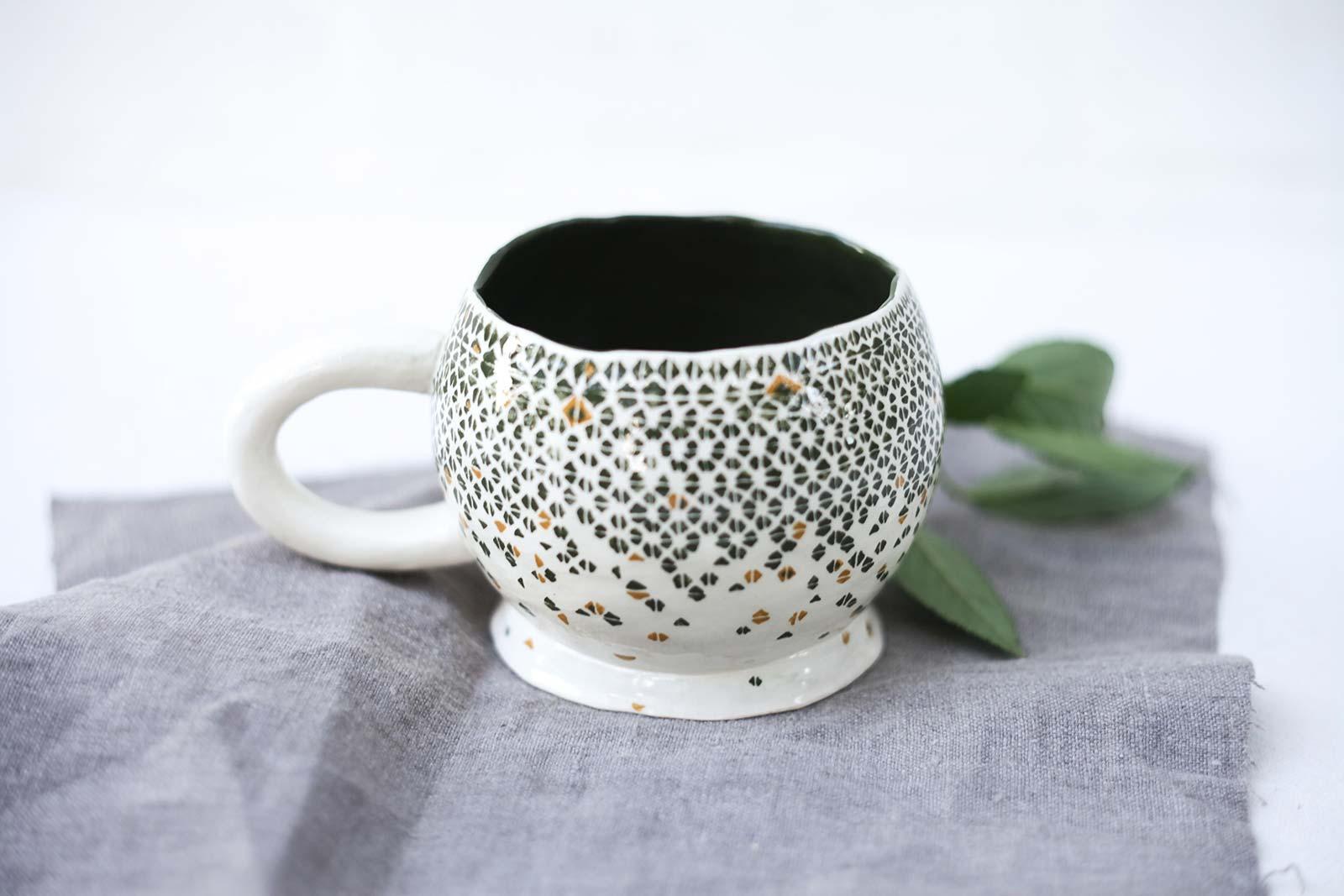 Декор - Большая керамическая чашка для чая