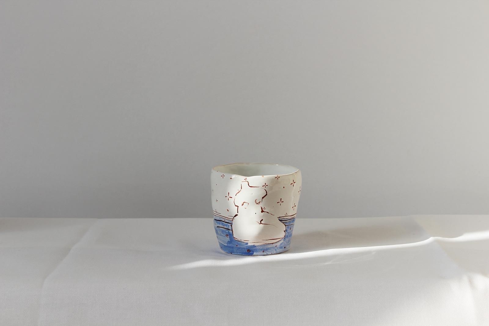 Вид сбоку - Декоративный стакан (Ручная работа)