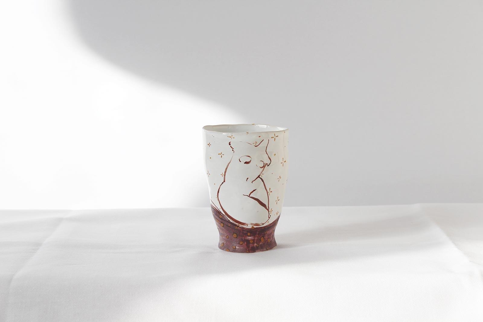 Декоративная керамическая стакан (Ручная работа)