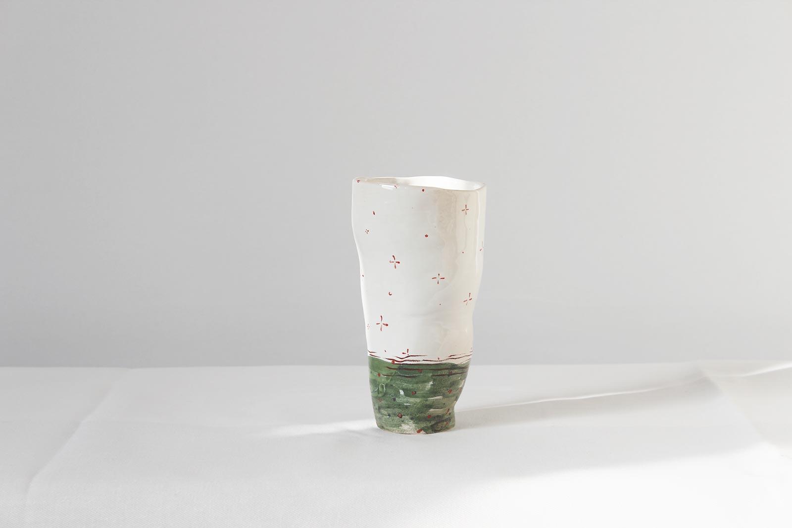 Вид сзади - Декоративный стакан (Ручная работа)