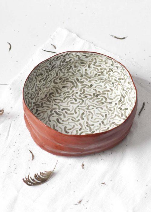 Декоративная тарелка из керамики - Коллекция «Дежавю №2» (Ручная работа)